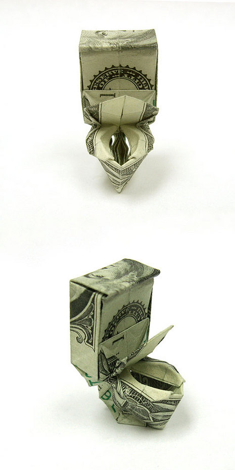 dollar bill origami ring. dollar bill origami ring.