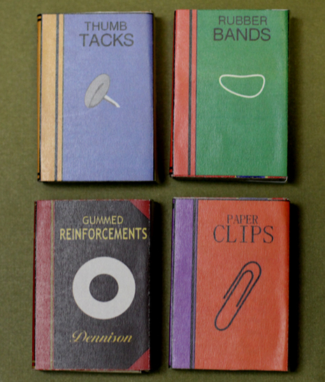Book Cover Photography Near Me : How to make mini office supply book covers for matchbooks