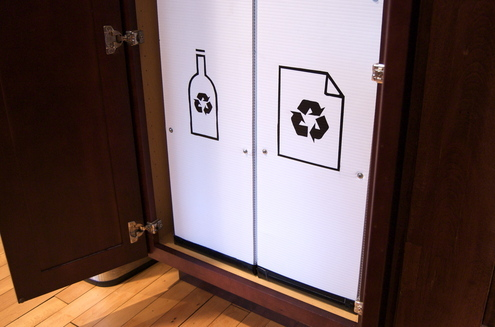 DIY Pantry Recycling Center Makeover