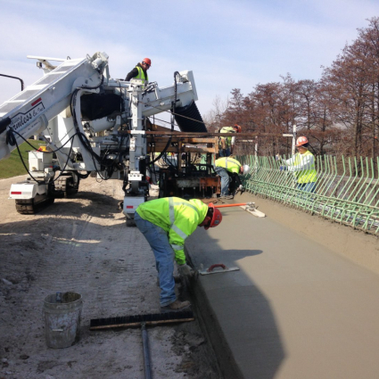 Concrete Barrier Wall Installation