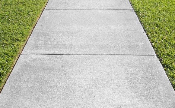 Placa de concreto para calçada