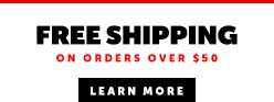 Free Shipping Dropdown Banner