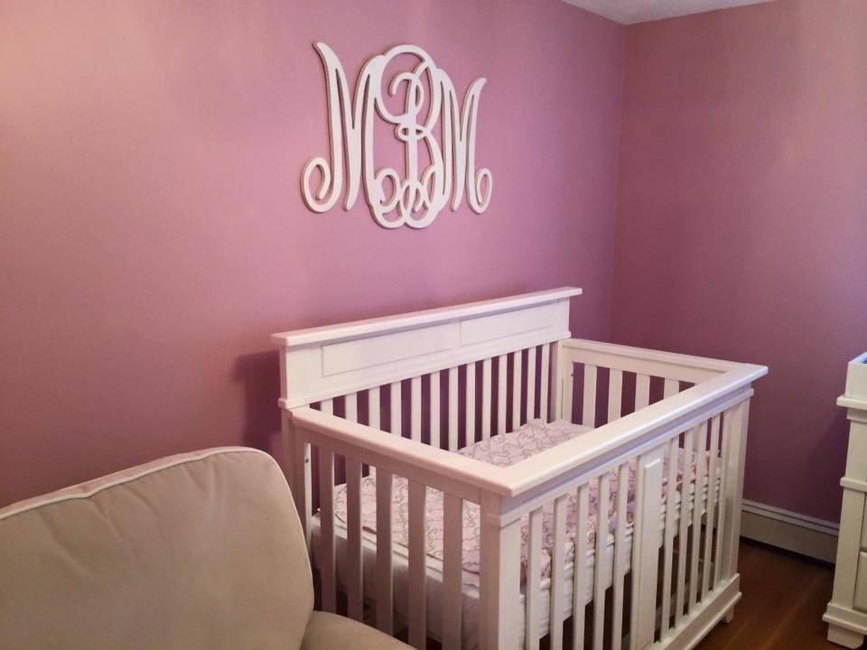 Painting a bedroom for the arrival of a new born baby!