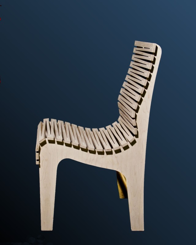 "The ""ZigZag"" Ergonomic Chair by Randy Weersing Furniture Designs at CustomMade.com"