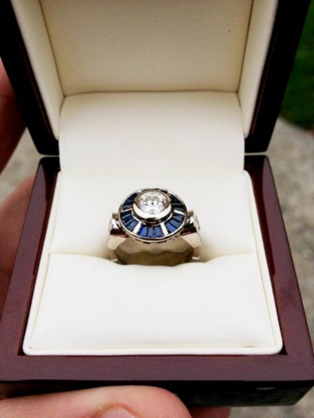 The final R2-D2 inspired engagement ring.