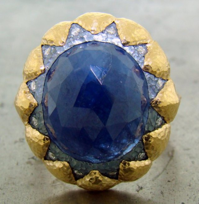Ancient Style Blue Sapphire Ring by William Travis Jewelry, available at CustomMade.com