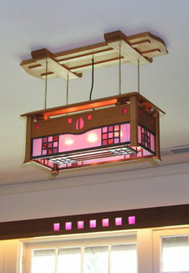 Glasgow Style Ceiling Light by Kevin Rodel Furniture & Design, inspired by the Arts & Crafts hero CR Mackintosh is available for custom order through CustomMade.com