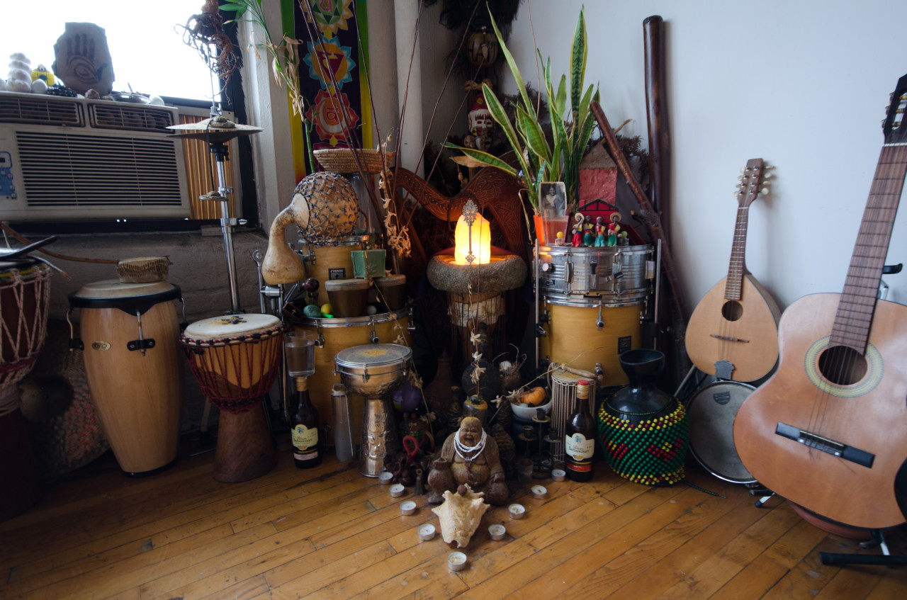 A Vodou shrine in Jenty's home