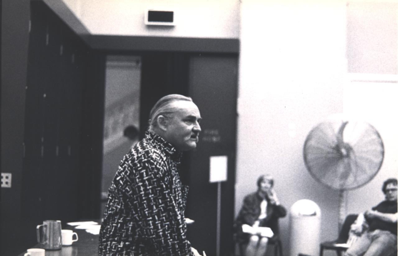 Berg discussing urban sustainability (date unknown).