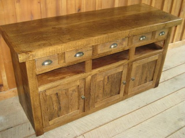 "60"" Reclaimed Wormy Chestnut TV Stand by Unique Custom Furniture at CustomMade.com"