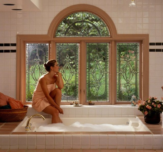 Jacuzzi Beveled Glass Windows by Pompei & Company Stained Glass at CustomMade.com