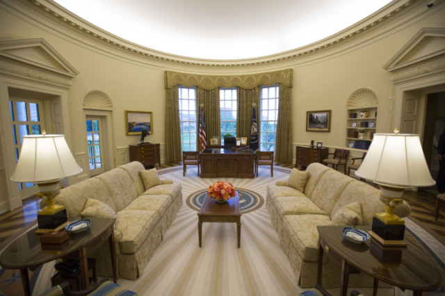 George W. Bush Oval office.