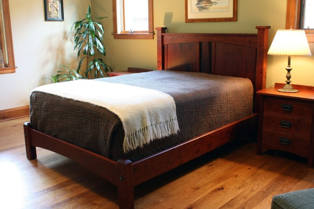 Bungalow Style Headboard by Montana Cabinet & Canoe at CustomMade.com