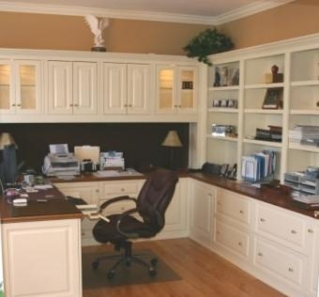 25 perfect custom built desks home office Unique home office ideas