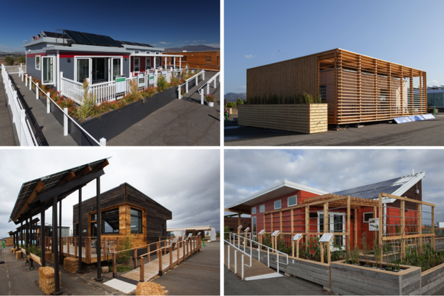 "Prototype homes from the 2013 Solar Decathlon represent the latest technologies in ""green"" architecture and design. (Photos: Jason Flakes/U.S.D.E/ Solar Decathlon)"