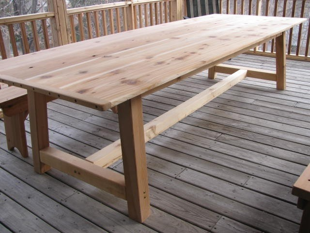 Dining Table Furniture How To Build Cedar Dining Table Outdoor