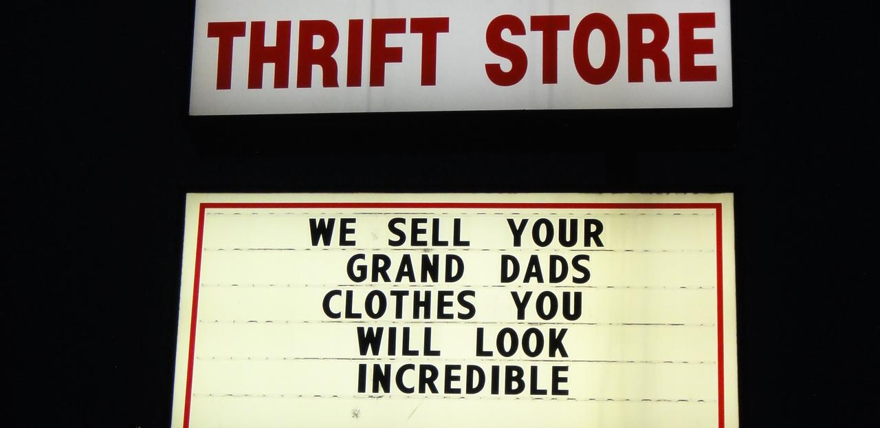 How the thrift shop, once widely denounced, became popular in America