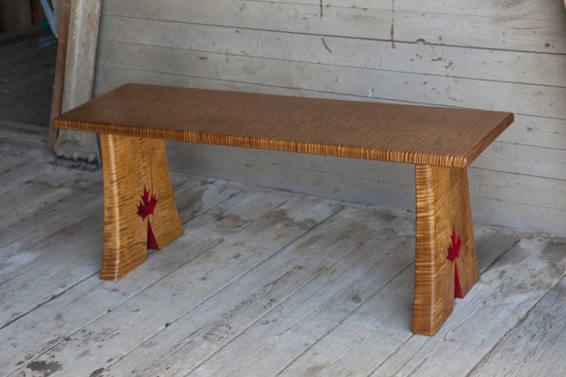 Olympic Tiger Maple Bench/Table by Thomas Miller Furniture at CustomMade.com