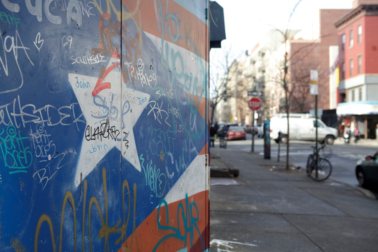 A Puerto Rican flag mural (Photo by Marisa Wong)