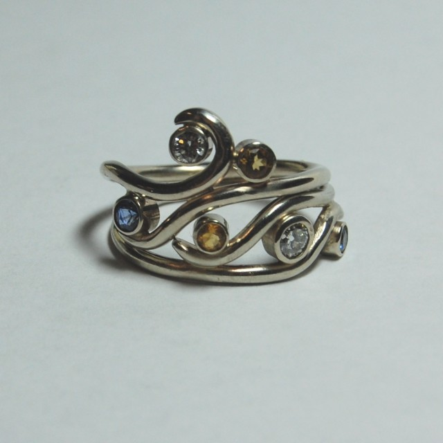"""For Maya,"" Wedding Ring Set by e. scott originals at CustomMade.com"