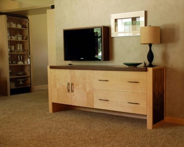 Modal title for Tv in furniture hidden