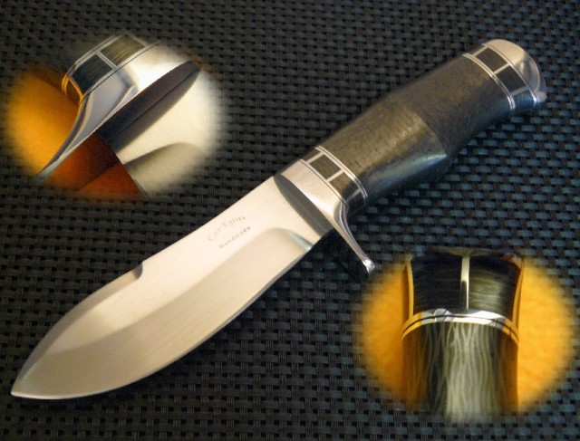 Carbon Fiber Bullnose Skinner by Cote Custom Knives at CustomMade.com