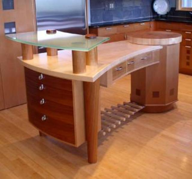 Curvy Kitchen Island by Michael Singer Fine Woodworking at CustomMade.com