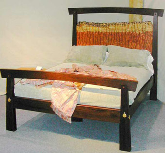 Curly Bubinga and Wenge Double Bed by Morgan Woodworls, Ltd., at CustomMade.com