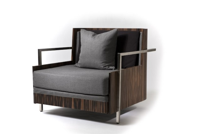 Macassar Ebony Wood Lounge Chair by JG Custom Design at CustomMade.com