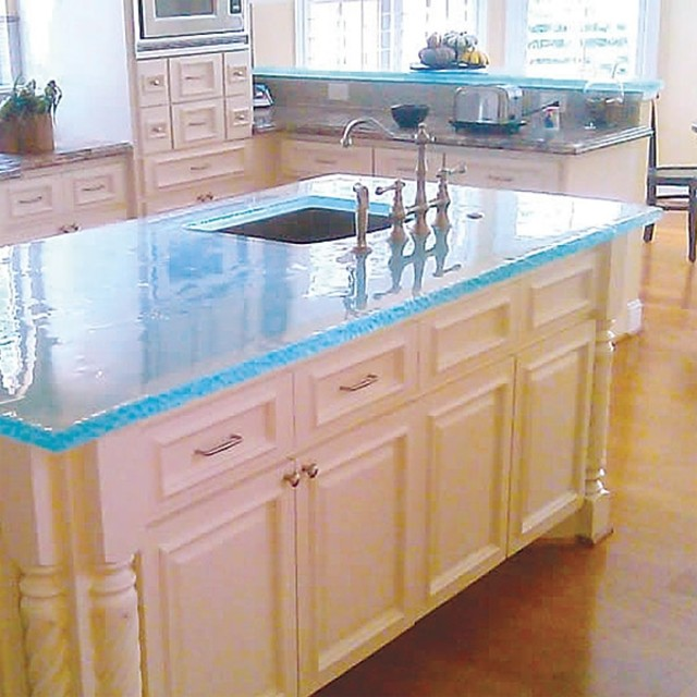 Custom Cast Glass Countertops by Ideas & Solutions at CustomMade.com