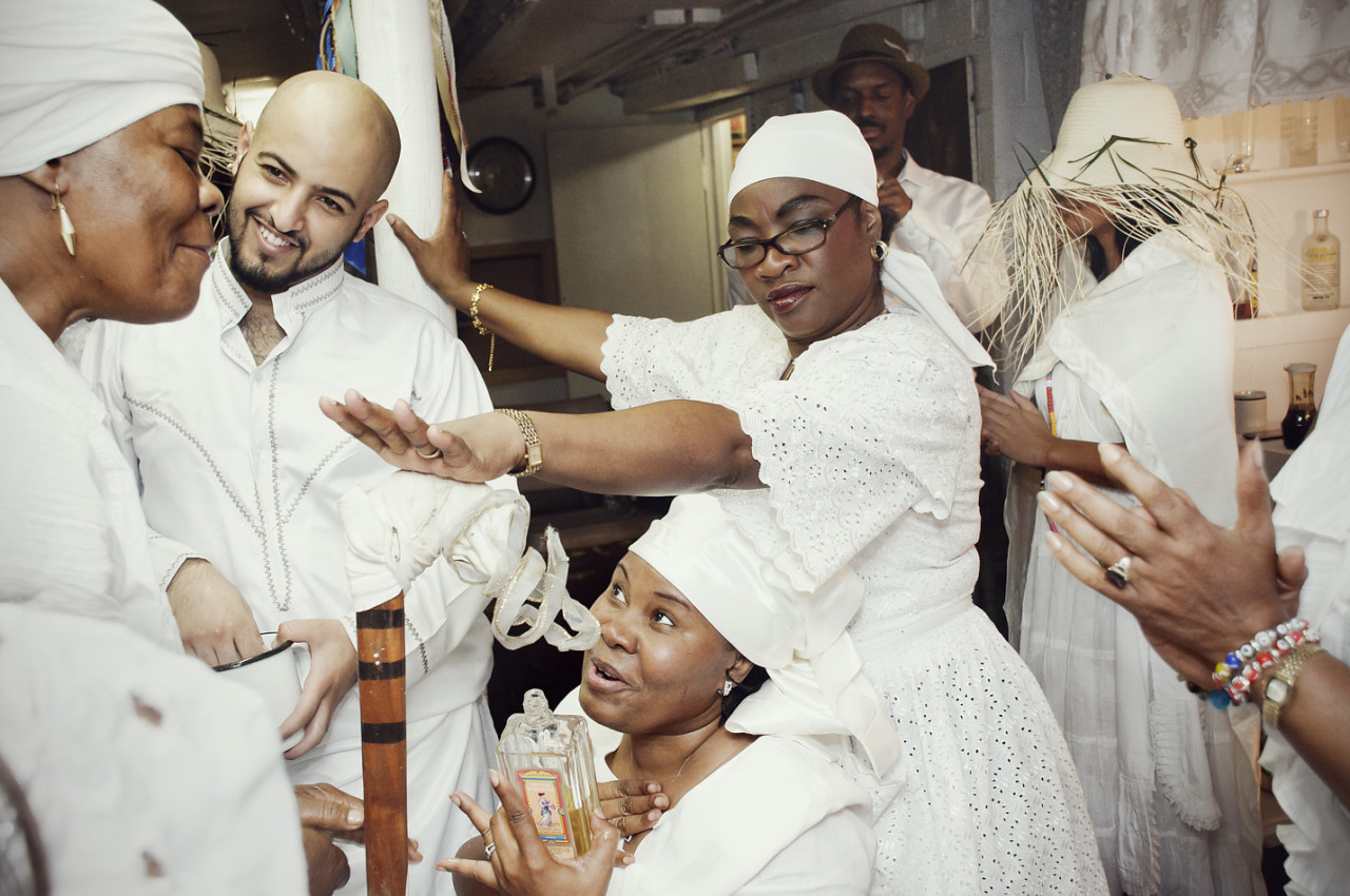 A Vodou cermony in Brooklyn (Photo courtesy Shannon Taggart)