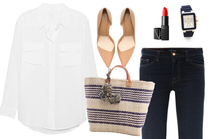 White-shirt-classic-jeans-matchbook-magazine-nars-watch