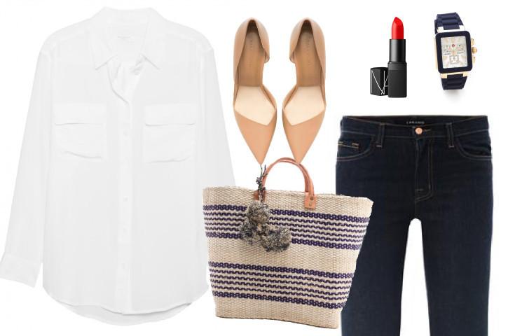White-shirt-classic-jeans-matchbook-magazine-nars-watch