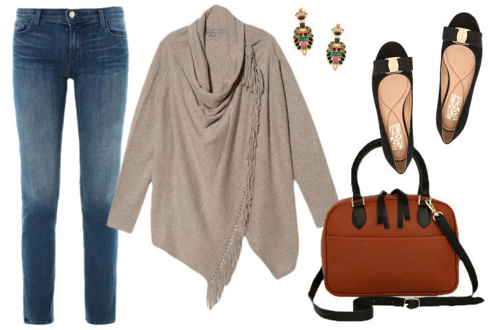 Cashmere--sweater-fall-fashion-outfit-classic-flats-purse-matchbook-magazine