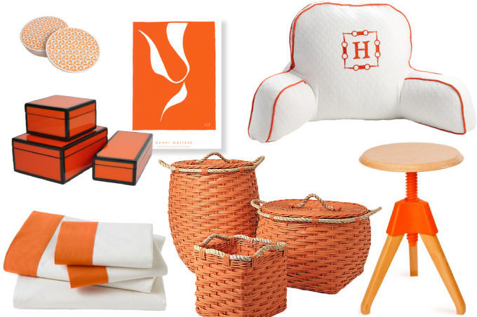image gallery orange home decor