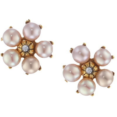 Pearl-flower-earrings