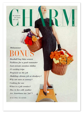 Charm-magazine-cover-july-1956