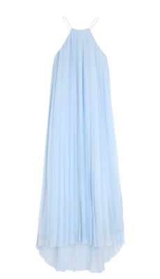 Pleated-silk-chiffon-dress