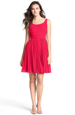 Adrianna_papell_pleated_chiffon_fit___flare_dress__nordstrom