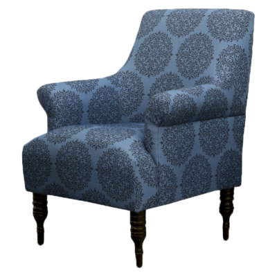 Upholstered-arm-chair