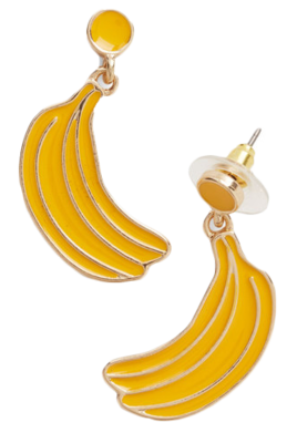Banana-earrings