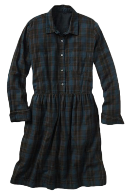 Plaid-shirtdress