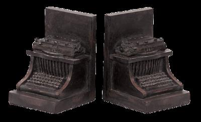 Typewriter-bookends