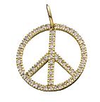 Peace-pave-charm