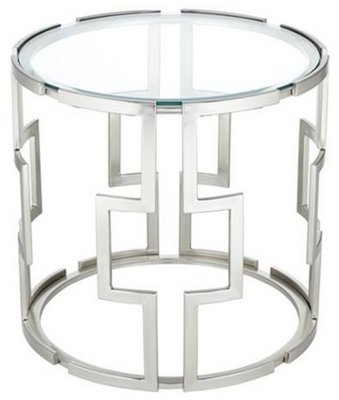 Geometric Tempered Glass End Table Lampsplus