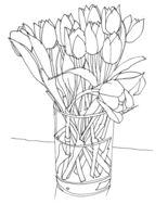 Tulips-in-glass-vase-saatchi-online