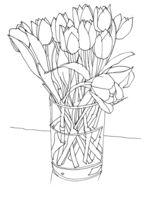 Tulips-in-glass-vase-saatchi-online