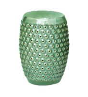 Bubble-ceramic-side-table-garden-stool-emerald-crackle-west-elm