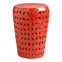 Orange-lili-punched-drum-stool-garden-seat-cost-plus-world-market