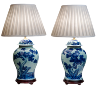 Blue-white-lamps